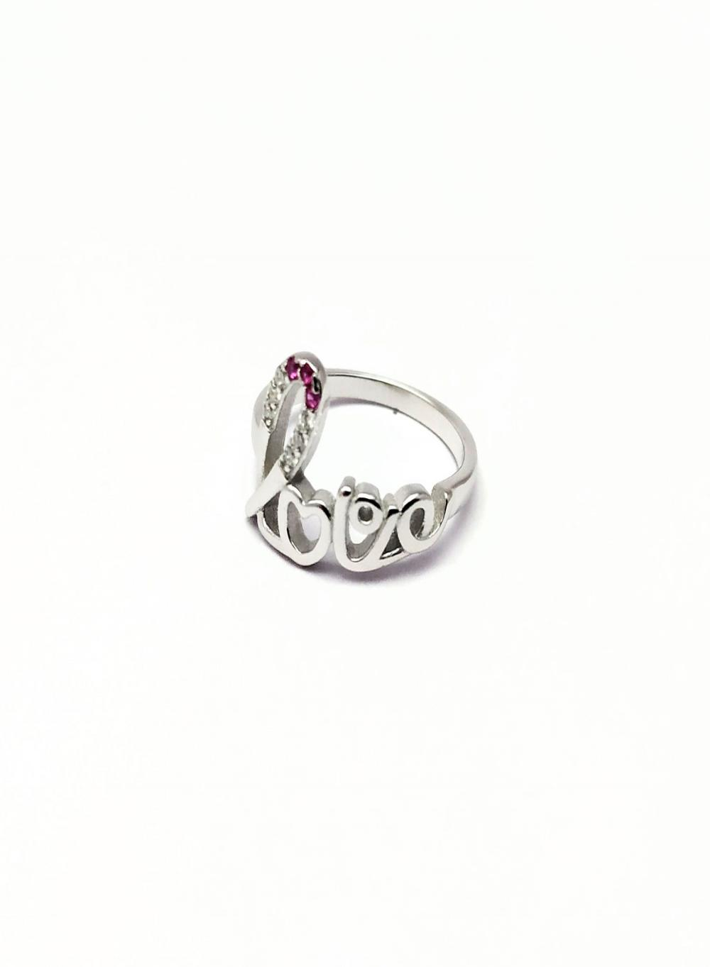 a590259657 Cursive Love Ring, Silver Love Ring, Love Ring, Sterling Silver Rings, For  She/Her